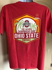 2021 NCAA Championship Game Ohio State Buckeyes Two Sided Short Sleeve Shirt S