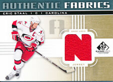 2011/12 SP Game Used AF-ES Eric Staal Authentic Fabric (Jersey) Insert