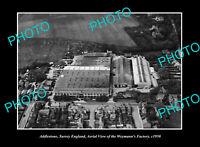 OLD POSTCARD SIZE PHOTO ADDLESTONE SURREY ENGLAND THE WEYMANNS FACTORY c1950