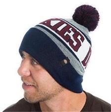 New Licensed Dickies Workwear Cuffed Pom Collegiate Snowboard Ski Beanie Hat  CR