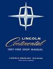 1967 1968 Lincoln Continental Shop Service Repair Manual