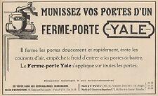 Y7241 Ferme-Porte YALE - Pubblicità d'epoca - 1923 Old advertising