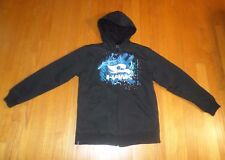 Boy's TONY HAWK  Black Fleece Lined Hoodie Zip Up Jacket Sweatshirt Size M 10-12