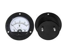 0 - 40V DC Gauge Voltage Panel Meter Round  Analog NEW