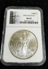 1996 1 oz Silver American Eagle $1 Coin NGC MS 69