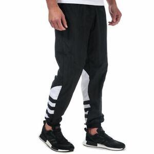 Men's adidas Originals Big Trefoil Elastic Waist Tracksuit Bottoms in Black