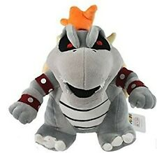 "Super Mario Plush 10"" Gray King Bowser Koopa Doll Stuffed Animals Figure Soft..."