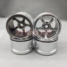 """4PCS 1/10 RC AXIAL Wraith Wheels 2.2"""" ALUMINUM GUN METAL Beadlock Wheel Rim"""