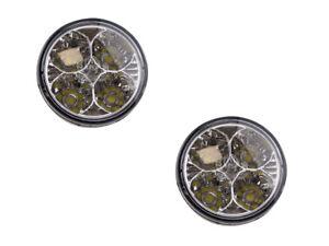 4 LED Emitter Tagfahrlicht R87 Zulassung E-Prüfzeichen rund Ø70mm Positionslicht