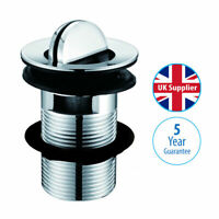 Chrome Slotted Basin Waste with Flip Top Swivel Plug WST4013 bathroom