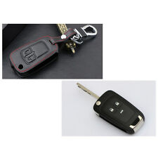 For Opel Astra J Corsa D Zafira Leather Key Cover Case Fob Chain Accessory