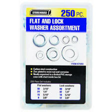 2 pack 250 pc Flat and Lock Washer Assortment Stainless Steel