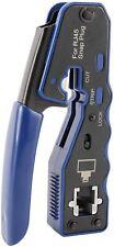 Rj45 Crimp Tool Pass Through Cutter for Cat6 Cat5 Cat5e 8P8C Plugs Connectors