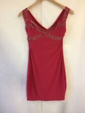 Ladies Goddess London Red Studded Stretch Fit Dress - Size S/M