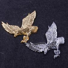 3D Eagle Hawk Metal Car Emblem Badge Decal Logo Sticker Silver / Gold Sport