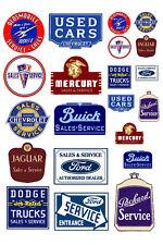 1:25 G scale model vintage car automobile sales service signs