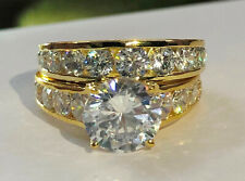 4.73Ct Round Solitaire Diamond Engagement Ring Wedding Band 14k Yellow Gold