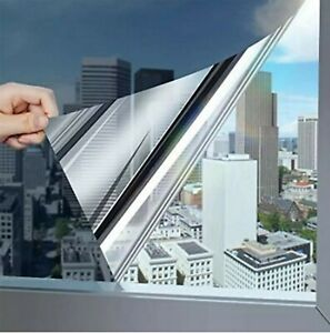 Reflective Window Film Home Privacy One Way Mirror Heat UV Static Cling all size