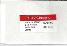 Box of 1000 NEW JBM #4-1/2 Glassine Envelopes 3-1/8 x 5-1/16 FREE U.S. SHIPPING