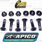 Apico Black Rear Sprocket Bolts Locking Nuts Set For Honda CR 85RB 2003 MotoX