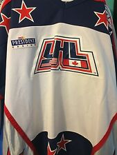 UHL 1999 ALL-STAR GAME FLINT GENERALS STEPHAN BROCHU GAME WORN HOCKEY JERSEY