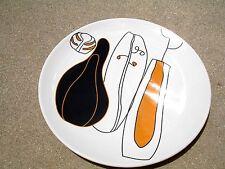 IKEA  SET OF 3  PORCELAIN DINER  PLATES 10''  MADE IN PORTUGAL WHITE/BLACK/LI BR