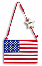 Patriotic Personalized American Flag RESIN Christmas Ornament - Any Occasion