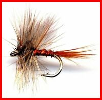 March Brown Fly Fishing Flies - Twelve Flies - Choice of Quantity & Hook Size