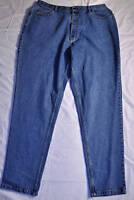 women's Wearguard work blue jeans size 24/34 new cotton denim five pockets