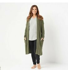 BAREFOOT DREAMS CozyChic Lite Catalina Olive Green Cardigan Size Small
