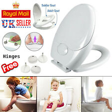 Toilet Seat Child Family Kids Potty Training Soft Close Top Quick Release Hinges