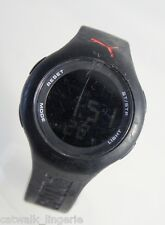 Puma MARLOX092509 Loop Unisex Digital Watch Black Rubber Strap