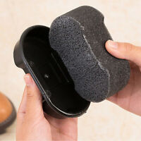 1X Quick Shine Shoes Shine Sponge Brush Polish Dust Cleaner  Tool Black TBCA