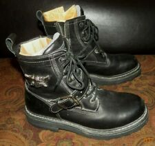 """Harley Davidson Low Cut (6"""") Black Leather Boots US MEN'S SIZE 9...EXCELL CONDTN"""