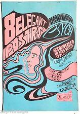 Vtg 1960's KONST-Sweden (Psychedelic) Original 8 Poster Set Concert Poster