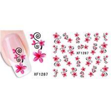 Pink Petals Flower Nail Art Sticker Decal Decoration Manicure Water Transfer