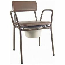 Aidapt Kent Stacking Commode Chair Compact Fully Assembled Welded Fixed Mobility