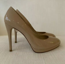 LK Bennett New Sledge Nude Patent Trench Platform Court Shoes Size 42 NEW