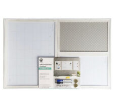 "11"" x 17"" Organization Center 3-Board Set White Frame - U-Brands"