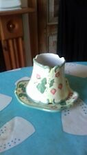 Partylite hand painted ceramic candle holder new