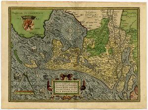 Antique Print-HOLLAND-HOLLANDIAE-1ST ED.-NETHERLANDS-van Deventer-Ortelius-1570