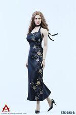 "ACPLAY ATX025 1/6 Scale Black Cheongsam Costume Dress Suit F 12"" Female Figure"