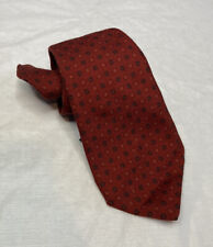 Kiton Napoli Clover 7 Fold Tie 100% Lana Wool Made In Italy