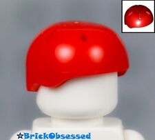 LEGO Red Minifig Sports Helmet w/ Vent Holes - Hat Mountain Climber Skateboarder