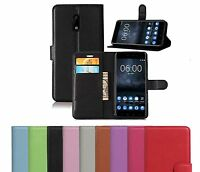 New PU Leather Flip Wallet Book Case Cover Pouch For Nokia 5 and Nokia 6 Nokia 3