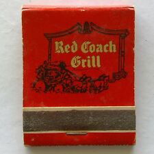 Red Coach Grill Massachusetts Rhode Island Connecticut New York Matchbook (MK23)