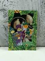 """ACEO Artist Trading Card """"Christmas Family Ornaments"""" Stickers Glitter Made"""