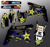 2003 2004 YAMAHA YZ 250F / YZ450F GRAPHICS KIT ROCKSTAR DIRT BIKE DECALS 03 04