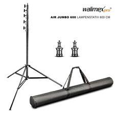 walimex Jumbo Lampenstativ / Lichtstativ / Leuchtenstativ 600cm AIR