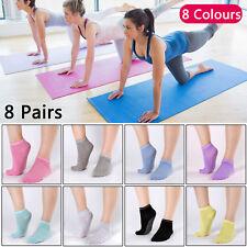 8 Pairs Yoga Fitness Socks Non Slip Pilates Massage Ballet Socks Exercise Gym